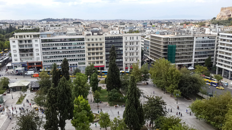 Vedere de la Hotel Grand Bretagne